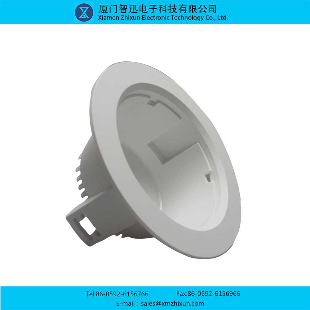 PBT pure white durable home indoor office ceiling downlight LED energy saving lamp cup lamp holder lamp shell assembly 3 inch housing